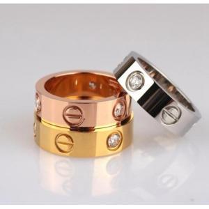 Love系列螺絲釘18K鈦鋼戒指 情侶對戒
