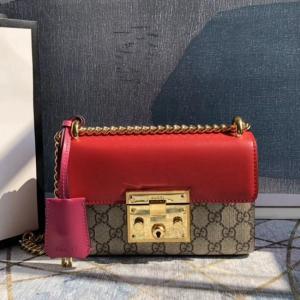 409487 咖啡紅 玫紅 小號 padlock背包 20x12.5x8cm 原單